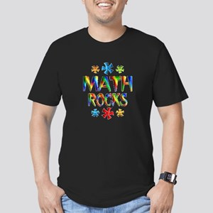 Math Rocks! Men's Fitted T-Shirt (dark)