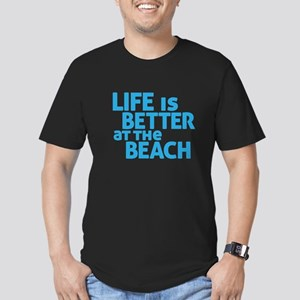 Life Is Better At The Men's Fitted T-Shirt (dark)