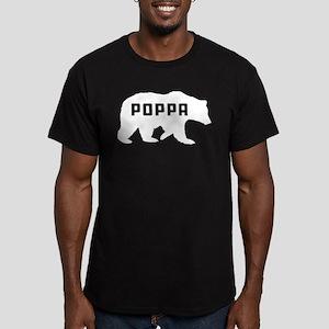 Poppa Bear Men's Fitted T-Shirt (dark)