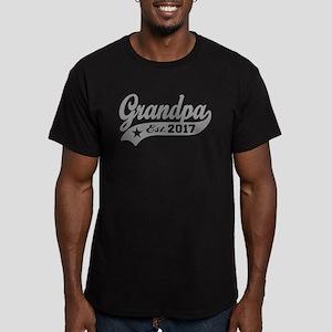 Grandpa Est. 2017 Men's Fitted T-Shirt (dark)