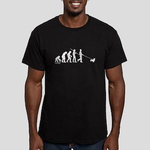 Corgi Evolution Men's Fitted T-Shirt (dark)