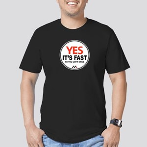 Yes Its Fast! Men's Fitted T-Shirt (dark)