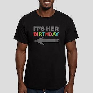 Its Her Birthday (Left Arrow) T-Shirt