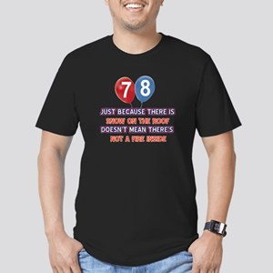 78 year old designs Men's Fitted T-Shirt (dark)