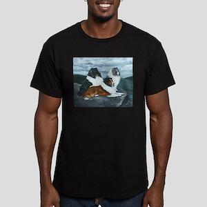 Shelties in the Mist Men's Fitted T-Shirt (dark)