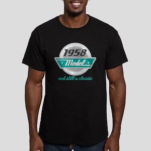 1958 Birthday Vintage Chrome Men's Fitted T-Shirt