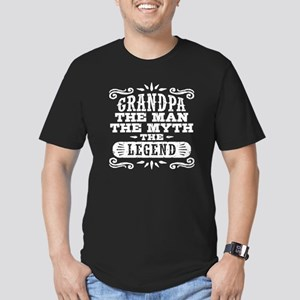 Funny Grandpa Men's Fitted T-Shirt (dark)