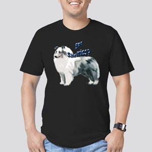 Blue Merle Shelty Men's Fitted T-Shirt (dark)
