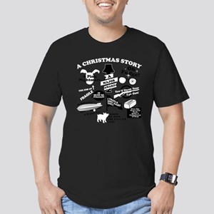 A Christmas Story Coll Men's Fitted T-Shirt (dark)