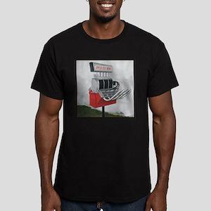 Hot Rod mailbox Men's Fitted T-Shirt (dark)