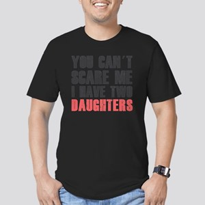 I have two daughters Men's Fitted T-Shirt (dark)