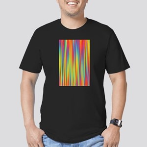 Abstract Colorful Decorative Striped Patte T-Shirt