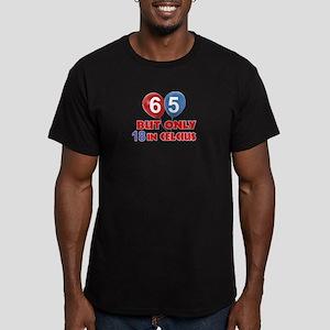 65 year old designs Men's Fitted T-Shirt (dark)