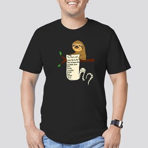 Sloth with Long To Do List T-Shirt