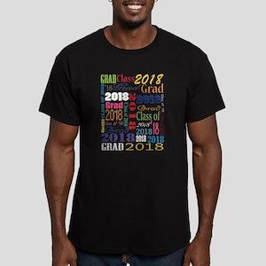 2018 Graduation Typogr Men's Fitted T-Shirt (dark)
