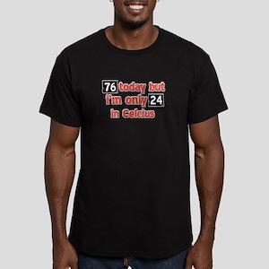 76 year old designs Men's Fitted T-Shirt (dark)