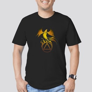 A.A. Logo Phoenix - Men's Fitted T-Shirt (dark)