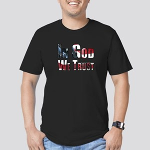 In God We Trust Men's Fitted T-Shirt (dark)
