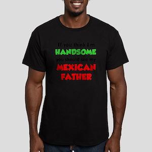Think Im Handsome Mexi Men's Fitted T-Shirt (dark)
