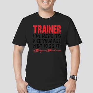 TRAINER - KISS IT - WH Men's Fitted T-Shirt (dark)