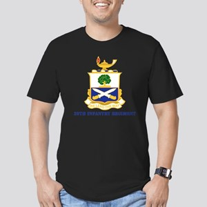 29thInfantryRgt-text Men's Fitted T-Shirt (dark)