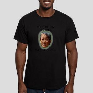 100% Cotton Green Men's Fitted T-Shirt (dark)