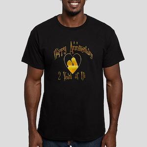 2-happy anniversary he Men's Fitted T-Shirt (dark)