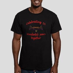celebrating  25 years  Men's Fitted T-Shirt (dark)