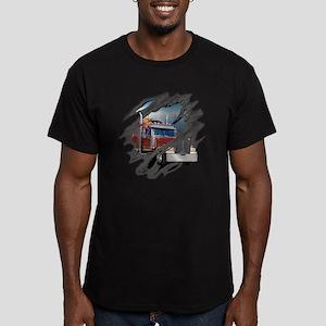 trucking Men's Fitted T-Shirt (dark)
