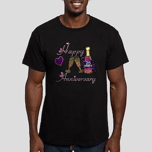 Anniversary pink and p Men's Fitted T-Shirt (dark)
