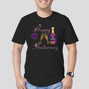 Anniversary pink and p Men's Fitted T-Shirt (dark)