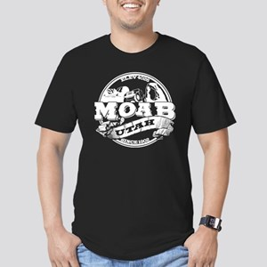 Moab Old Circle Men's Fitted T-Shirt (dark)