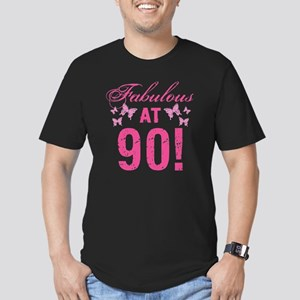 Fabulous 90th Birthday Men's Fitted T-Shirt (dark)