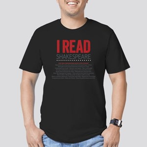 I Read Shakespeare and Men's Fitted T-Shirt (dark)
