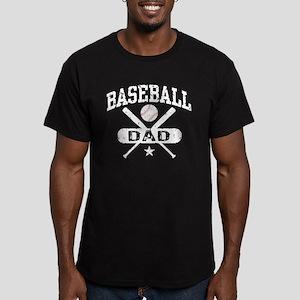 Baseball Dad Men's Fitted T-Shirt (dark)