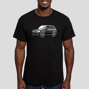 Range Rover Men's Fitted T-Shirt (dark)