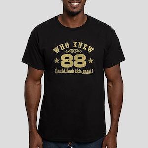 Funny 88th Birthday Men's Fitted T-Shirt (dark)