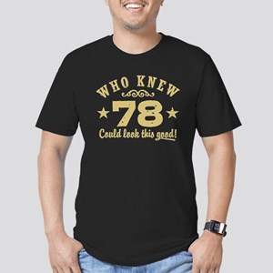 Funny 78th Birthday Men's Fitted T-Shirt (dark)
