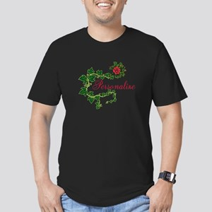 Personalizable. Ivy Ro Men's Fitted T-Shirt (dark)