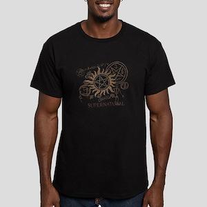 SUPERNATURAL Rusty Metal Men's Fitted T-Shirt (dar