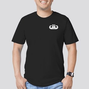 2-502 Black Heart Men's Fitted T-Shirt (dark)