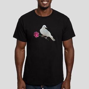 Dove Rose Men's Fitted T-Shirt (dark)