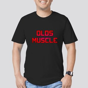 Olds Muscle! Men's Fitted T-Shirt (dark)