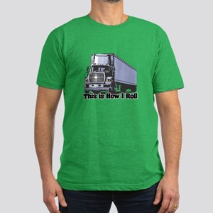 How I Roll (Tractor Trailer) Men's Fitted T-Shirt