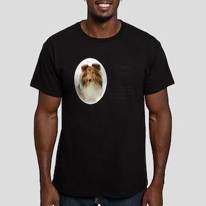 Timmy's Sheltie Men's Fitted T-Shirt (dark)