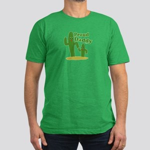 Proud Daddy Cactus Men's Fitted T-Shirt (dark)