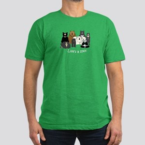 8 Bear Species Men's Fitted T-Shirt (dark)