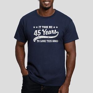 Funny 45th Birthday Men's Fitted T-Shirt (dark)