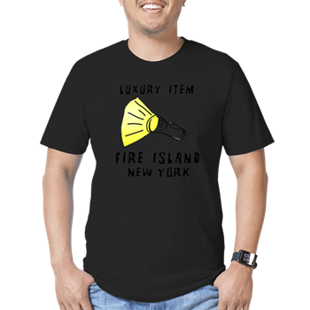 Fire Island T-shirt flashlight design
