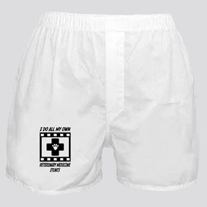 Veterinary Medicine Stunts Boxer Shorts